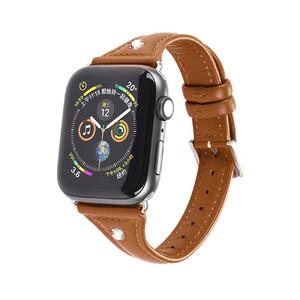 Купить Кожаный ремешок Hoco WB05 Ocean Wave Brown для Apple Watch 44mm/42mm Series 1/2/3/4/5