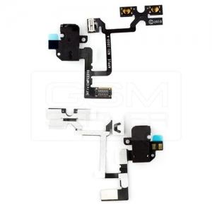 Шлейф с коннектором наушника для iPhone 4G