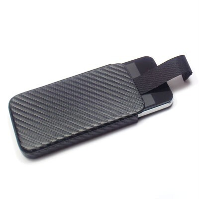 Кожаный карбоновый чехол Deluxe Sleeve для iPhone 4/4S