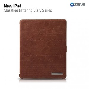 Купить ZENUS Masstige Lettering Diary Series Brown для iPad 4/3