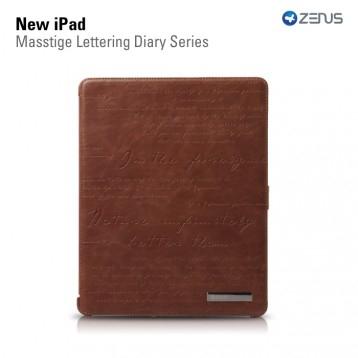 ZENUS Masstige Lettering Diary Series Brown для iPad 4/3