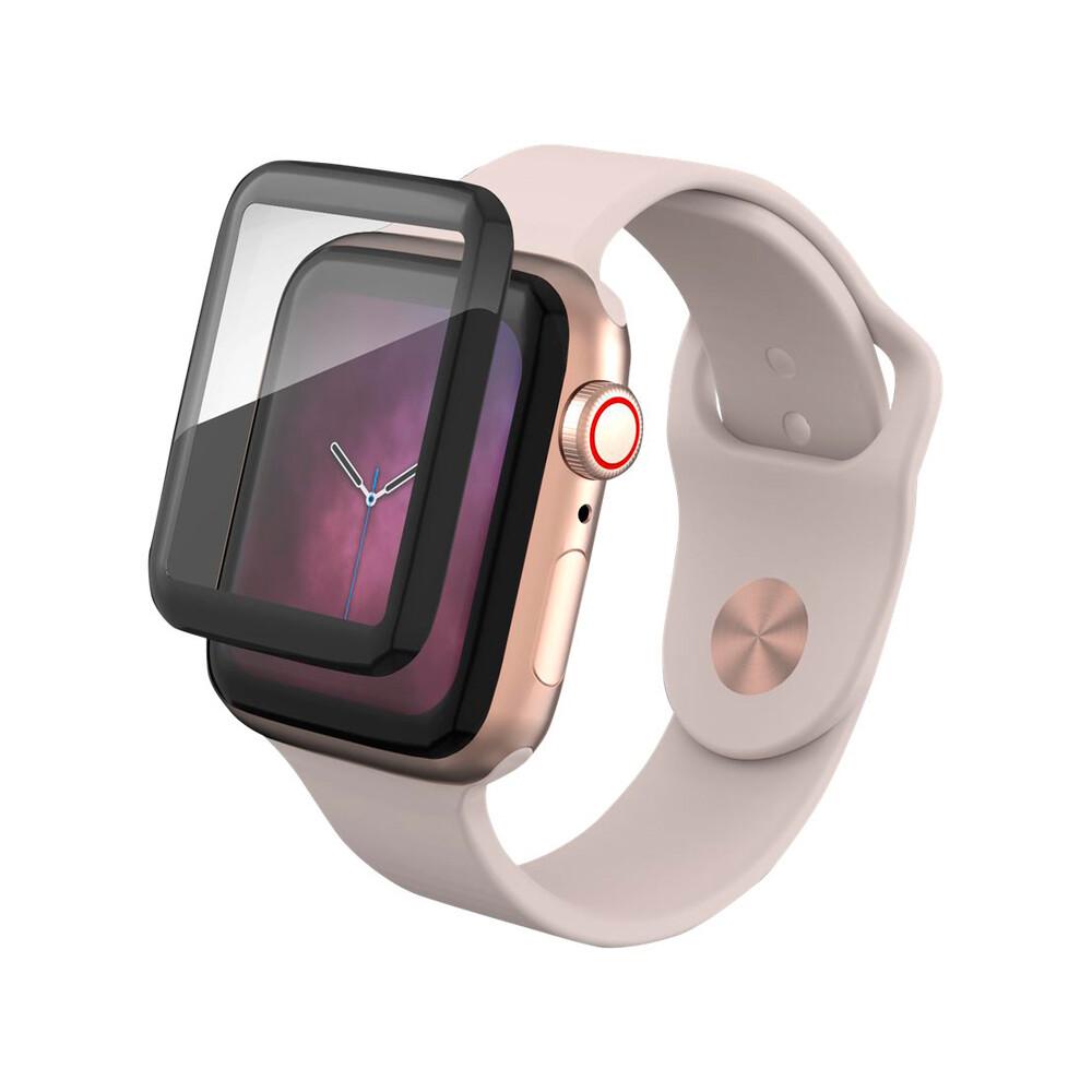 Защитное стекло ZAGG InvisibleShield Glass Curve Elite Black для Apple Watch 44mm Series 5/4