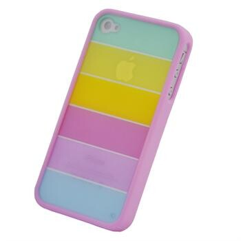 Розовый чехол Hot Rainbow Hard для iPhone 4/4S