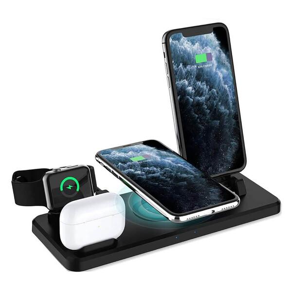Беспроводная док-станция 6-in-1 iLoungeMax для iPhone/AirPods/Apple Watch 15W