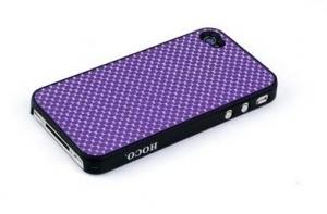 Купить HOCO Peacock Trace Aluminum Purple для iPhone 4/4S