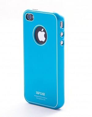 SGP Ultra Thin Pastel Series Tender Blue для iPhone 4
