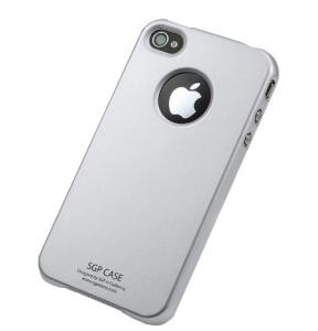 SGP Ultra Thin Pastel Series Silver для iPhone 4