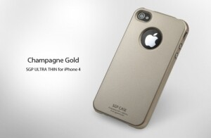 SGP Ultra Thin Pastel Series Champagne Gold для iPhone 4