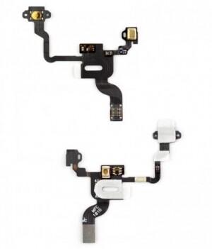 Шлейф кнопки включения, подсветки сенсора, с компонентами для iPhone 4