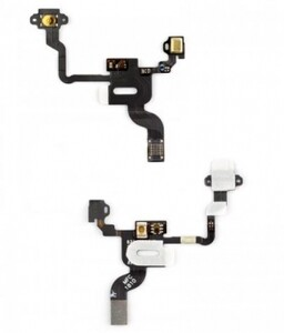 Купить Шлейф кнопки включения, подсветки сенсора, с компонентами для iPhone 4