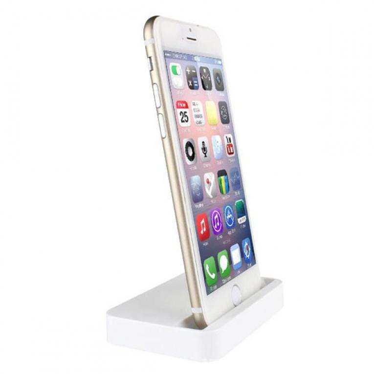 Купить Белая док-станция oneLounge для Apple iPhone 5 | 5S | SE | 5C | 6 | 6s | 6 Plus | 7 | 7 Plus | 8 | 8 Plus