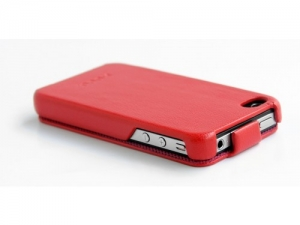 Купить HOCO Knight leather case red для iPhone 4/4S