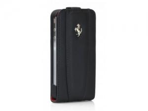 Купить Ferrari Modena Leather Case with Flap Black с дополнительной батареей для iPhone 4/4S