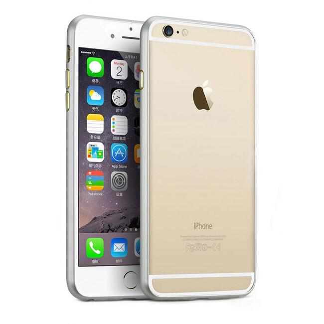 Алюминиевый бампер Alloy Silver для iPhone 6 Plus