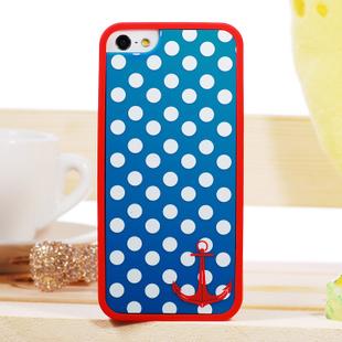 Красно-синий чехол Anchor Polka Dot для iPhone 4/4S