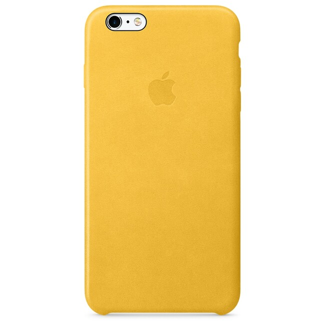 Кожаный чехол Apple Leather Case Marigold (MMM32) для iPhone 6s Plus