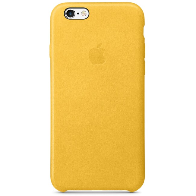 Кожаный чехол Apple Leather Case Marigold (MMM22) для iPhone 6s