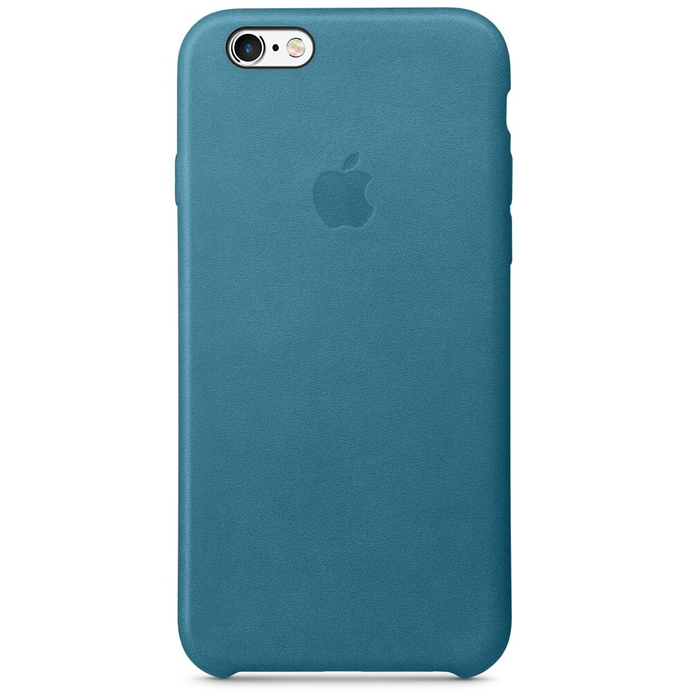 Кожаный чехол Apple Leather Case Marine Blue (MM4G2) для iPhone 6s