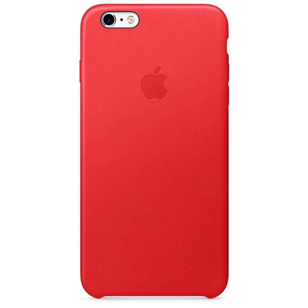 Купить Кожаный чехол Apple Leather Case (PRODUCT) RED (MKXG2) для iPhone 6s Plus