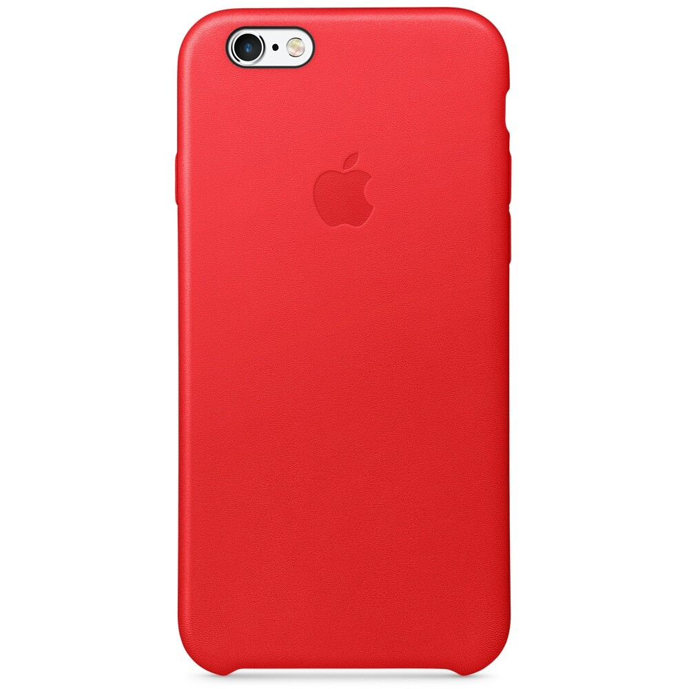 Кожаный чехол Apple Leather Case (PRODUCT) RED (MKXX2) для iPhone 6s
