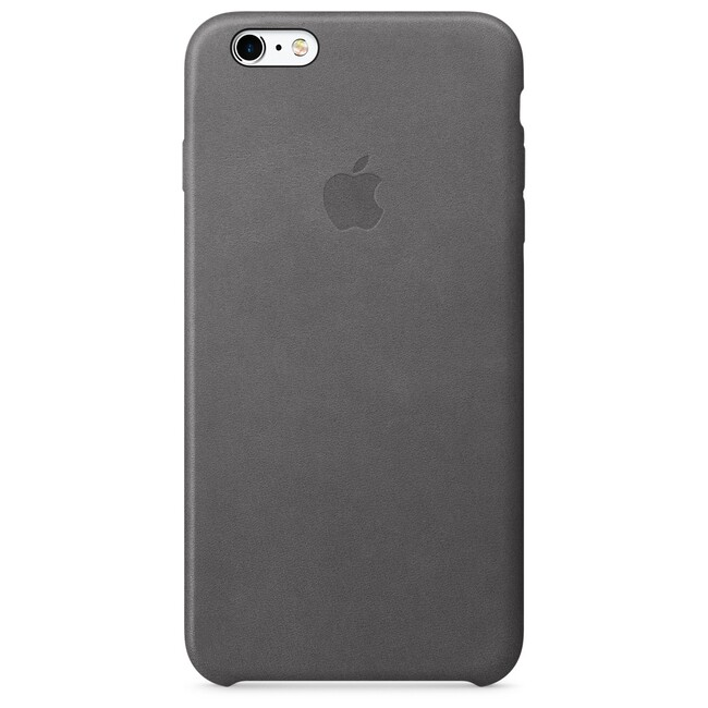Кожаный чехол Apple Leather Case Storm Gray (MM322) для iPhone 6s Plus