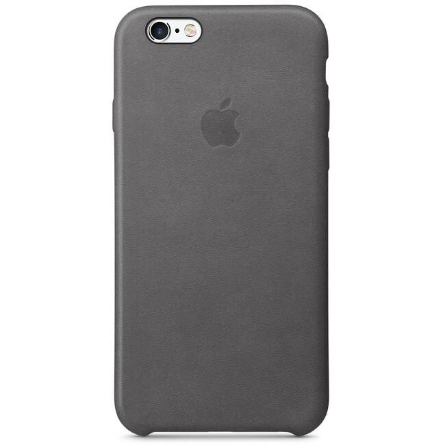 Кожаный чехол Apple Leather Case Storm Gray (MM4D2) для iPhone 6s