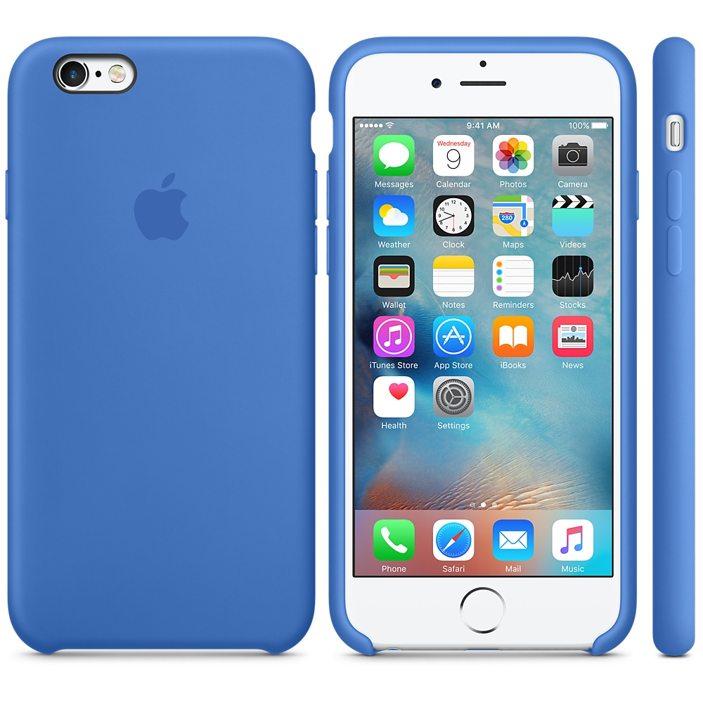 blue iphone 6 silicon case