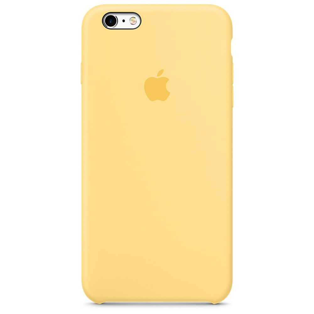 Силиконовый чехол Apple Silicone Case Yellow (MM6H2) для iPhone 6s Plus