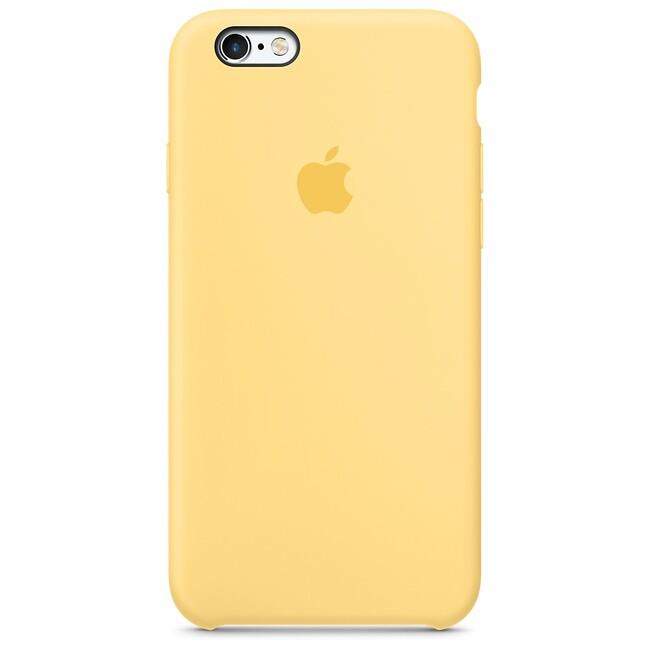 Силиконовый чехол Apple Silicone Case Yellow (MM662) для iPhone 6s