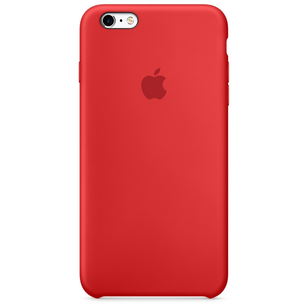 Силиконовый чехол Apple Silicone Case (PRODUCT) RED (MKY32) для iPhone 6s