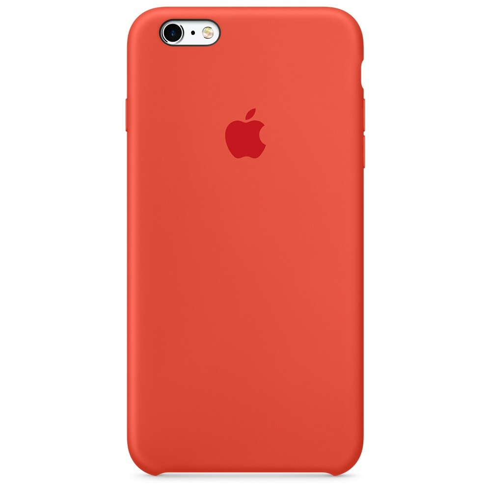 Силиконовый чехол Apple Silicone Case Orange (MKXQ2) для iPhone 6s Plus