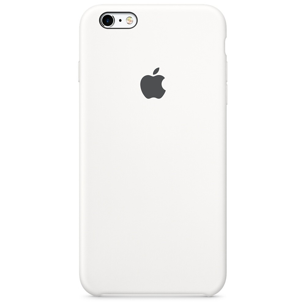 Силиконовый чехол Apple Silicone Case White (MKXK2) для iPhone 6s Plus