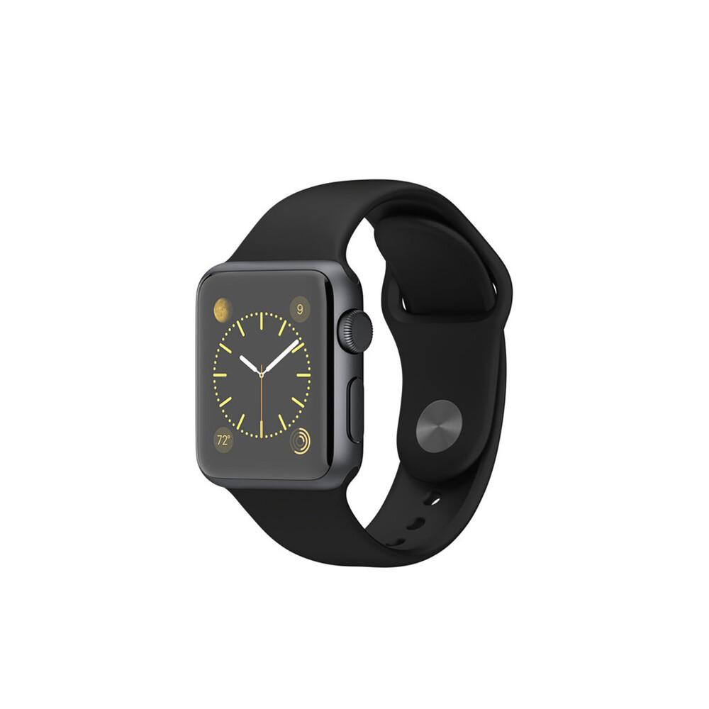 Часы Apple Watch Sport 38mm Space Gray с черным ремешком (MJ2X2)