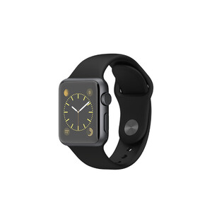 Купить Часы Apple Watch Sport 38mm Space Gray с черным ремешком (MJ2X2)