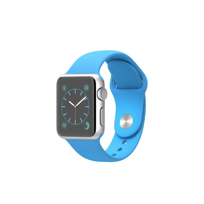 Часы Apple Watch Sport 38mm Silver с синим ремешком