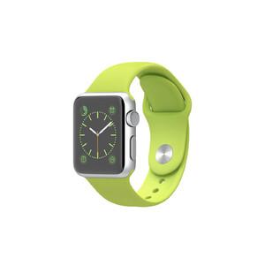 Купить Часы Apple Watch Sport 38mm Silver с салатовым ремешком