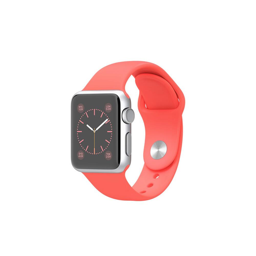 Часы Apple Watch Sport 38mm Silver с розовым ремешком