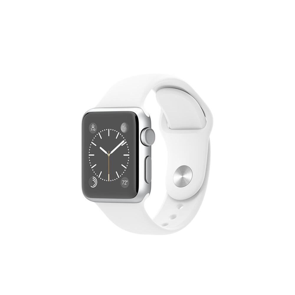 Часы Apple Watch Sport 38mm Silver с белым ремешком (MJ2T2)