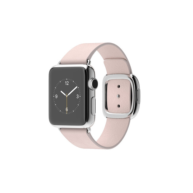Часы Apple Watch 38mm Stainless Steel с ремешком Soft Pink Modern Buckle