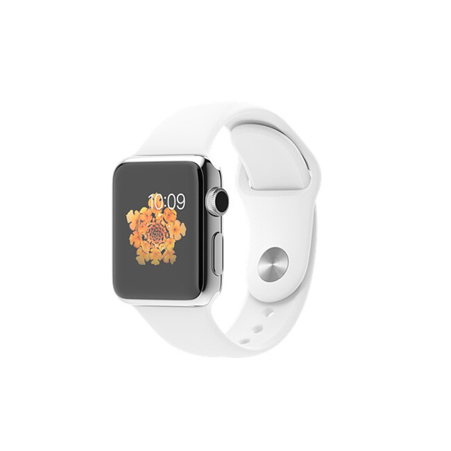 Часы Apple Watch 38mm White Sport Band