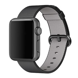 Купить Ремешок Apple 38mm Black Woven Nylon (MM9L2) для Apple Watch Series 1/2