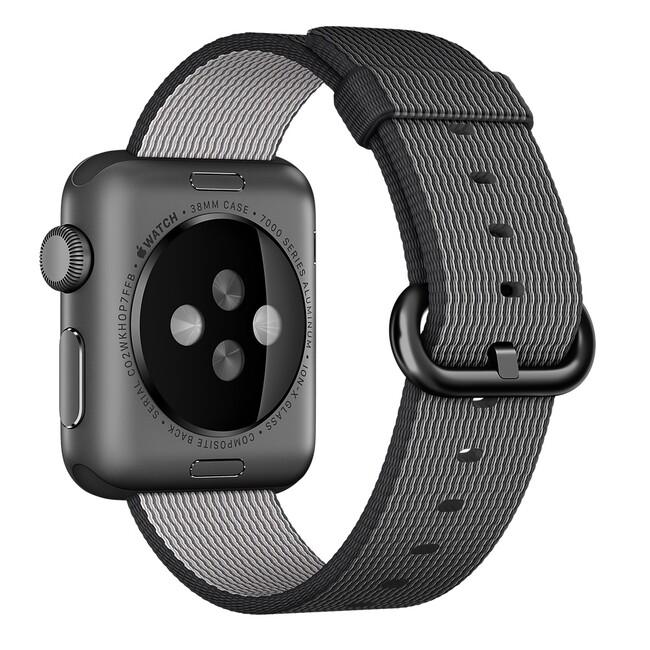 Ремешок Apple 38mm Black Woven Nylon (MM9L2) для Apple Watch Series 1/2