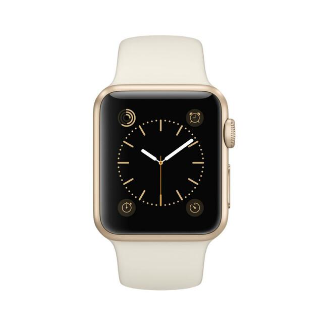 Часы Apple Watch Sport 38mm Gold с мраморно-белым ремешком