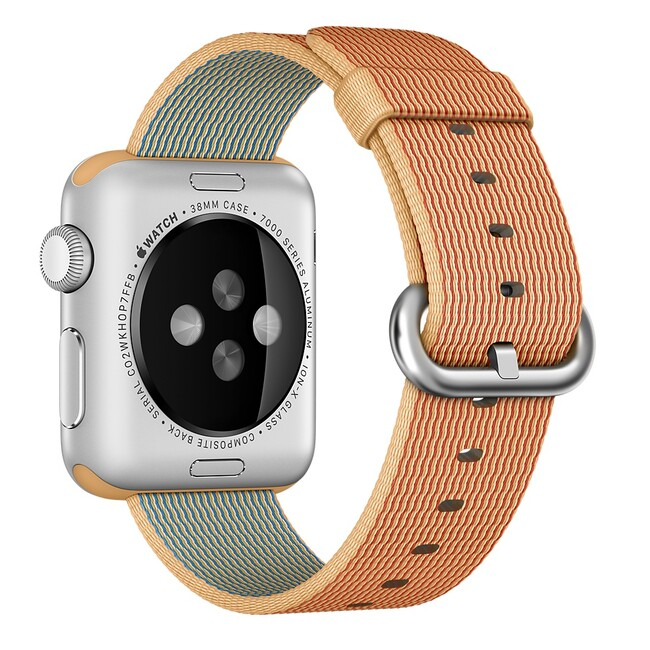 Ремешок Apple 38mm Gold/Red Woven Nylon (MM9R2) для Apple Watch