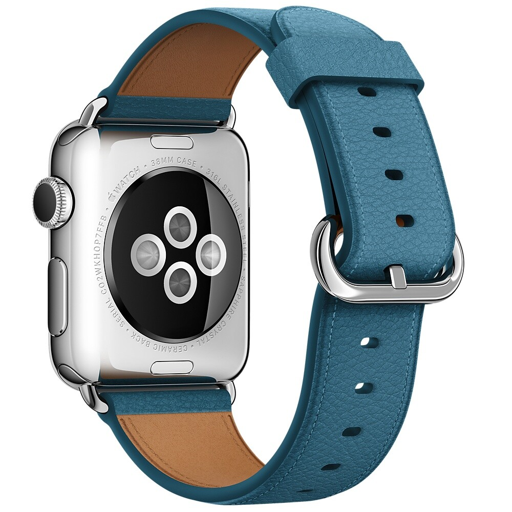 Ремешок Apple 38mm Marine Blue Classic Buckle (MMH62) для Apple Watch Series 1/2/3