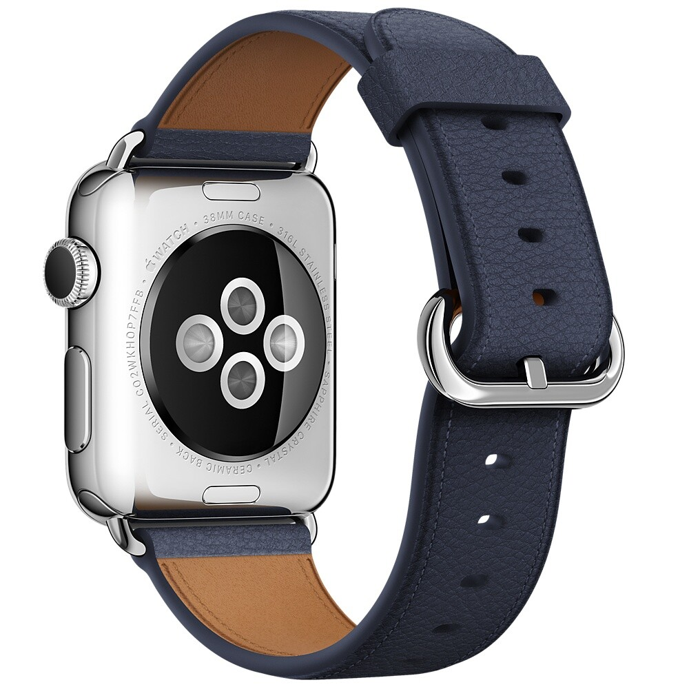 Ремешок Apple 38mm Midnight Blue Classic Buckle (MMAG2) для Apple Watch Series 1/2