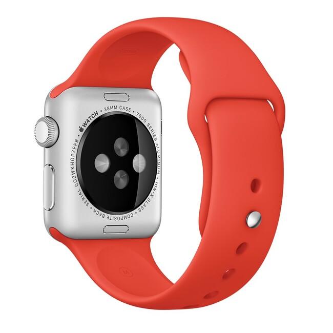Ремешок Apple 38mm Orange Sport Band (MLD92) для Apple Watch