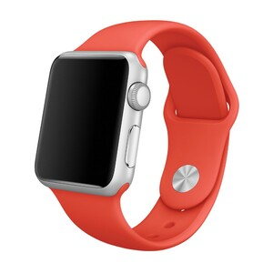 Купить Ремешок Apple 38mm Orange Sport Band (MLD92) S/M&M/L для Apple Watch Series 1/2