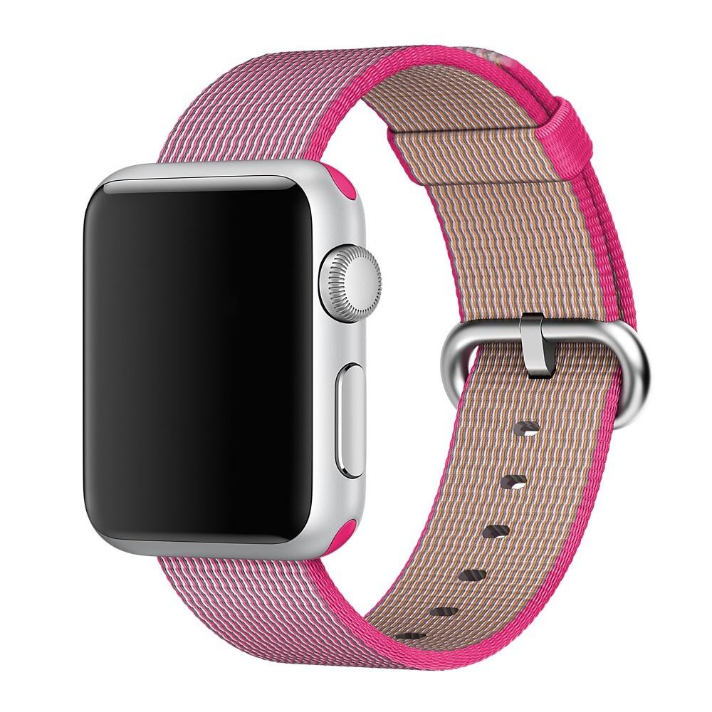 Ремешок Apple 38mm Pink Woven Nylon (MM9P2) для Apple Watch Series 1/2