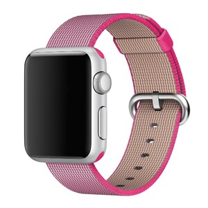 Купить Ремешок Apple 38mm Pink Woven Nylon (MM9P2) для Apple Watch Series 1/2